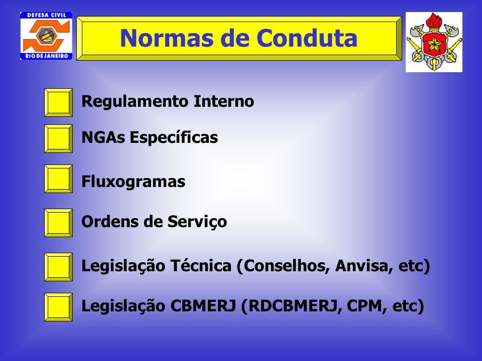 Normas de Conduta Regulamento Interno NGAs Específicas Fluxogramas