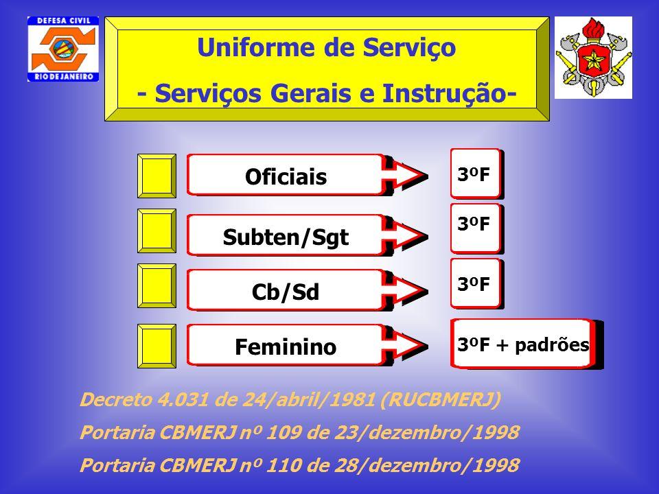 - Serviços Gerais e Instrução-