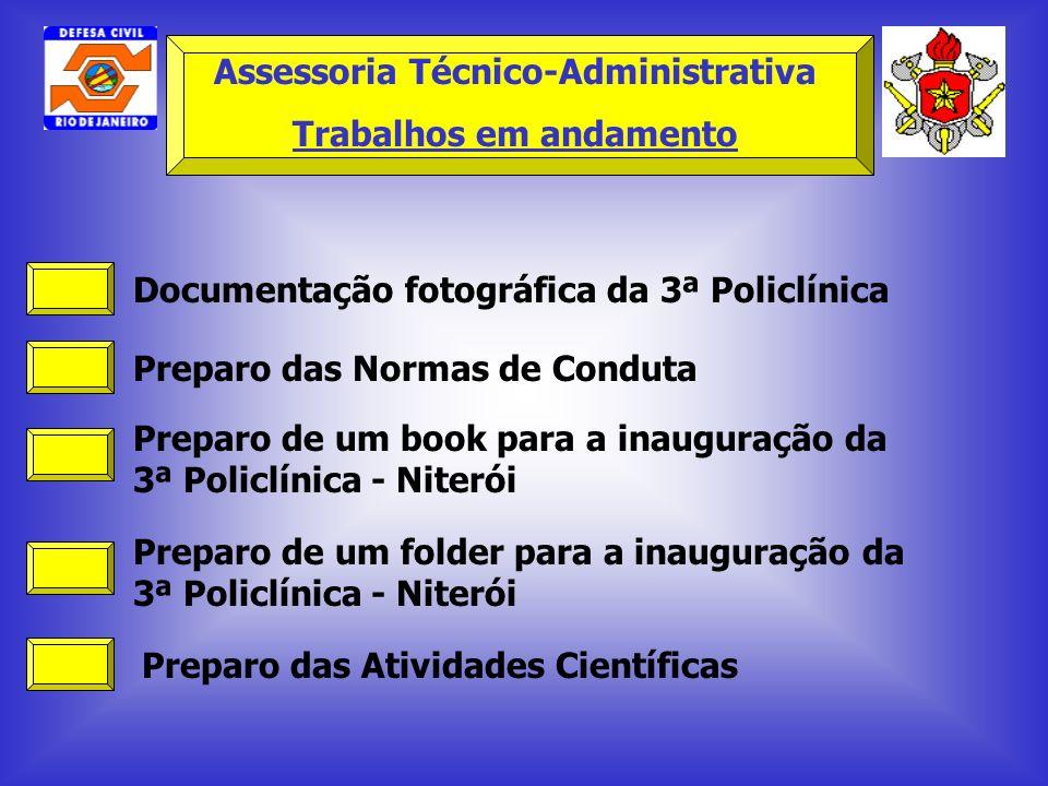 Assessoria Técnico-Administrativa Trabalhos em andamento