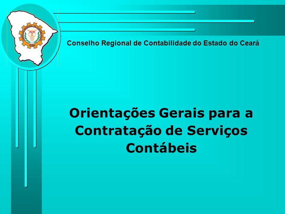 Orientações Gerais para a Contratação de Serviços Contábeis