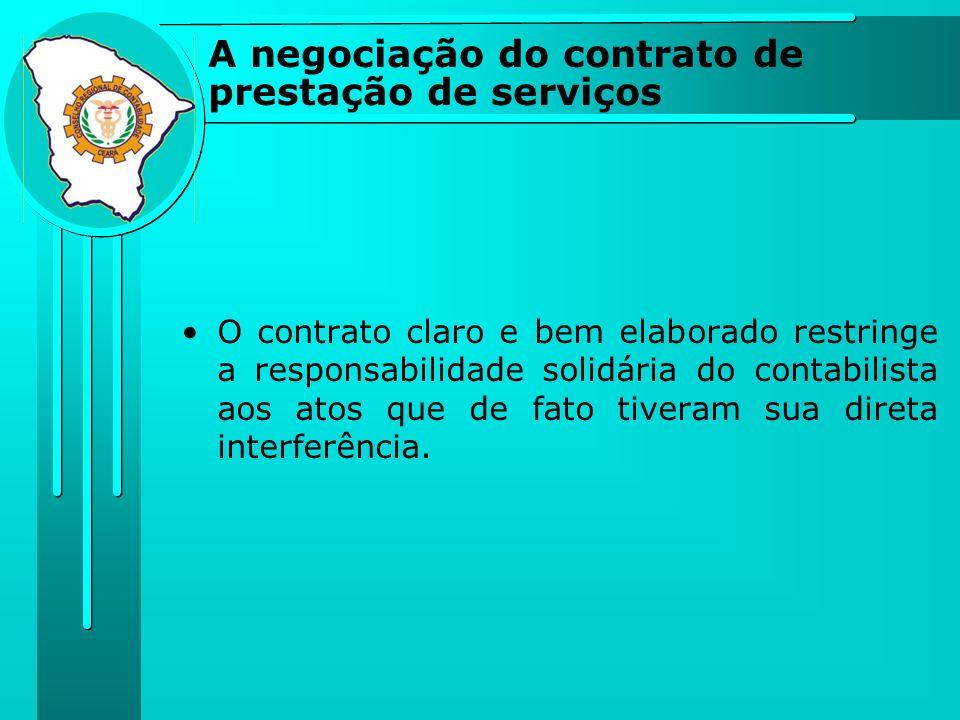 A negociação do contrato de prestação de serviços