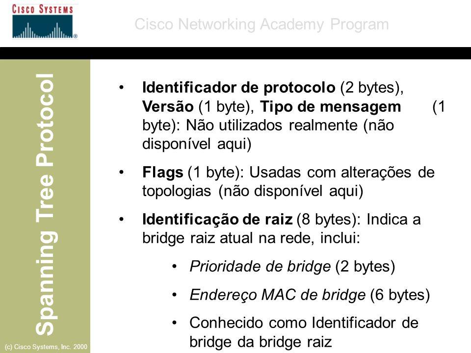 Identificador de protocolo (2 bytes), Versão (1 byte), Tipo de mensagem (1 byte): Não utilizados realmente (não disponível aqui)
