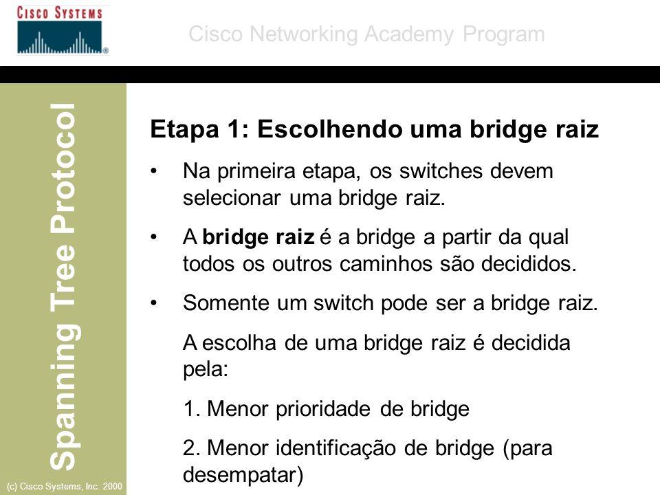 Etapa 1: Escolhendo uma bridge raiz