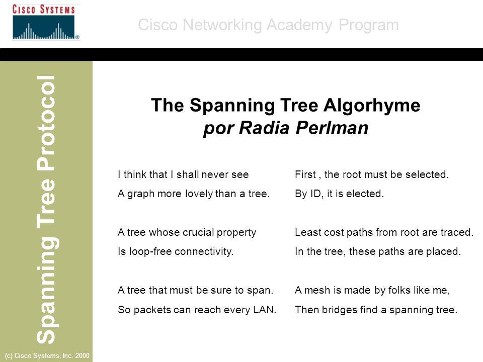 The Spanning Tree Algorhyme por Radia Perlman