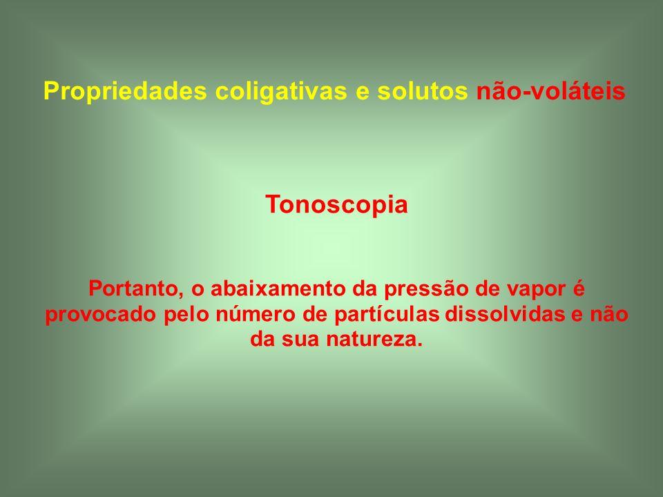 Propriedades coligativas e solutos não-voláteis