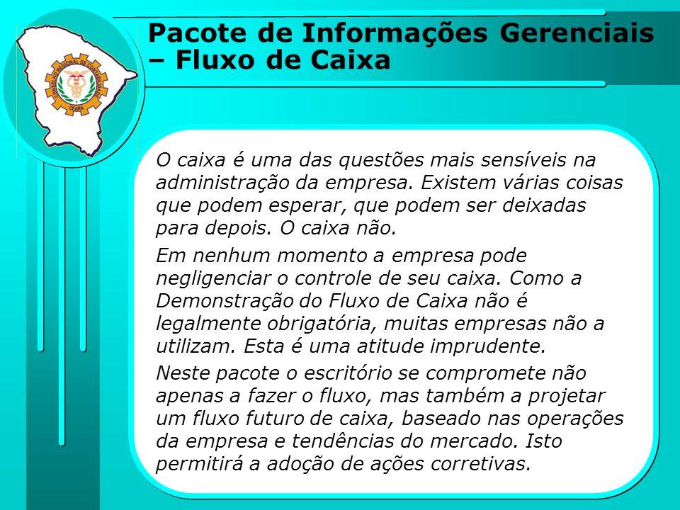 Pacote de Informações Gerenciais – Fluxo de Caixa