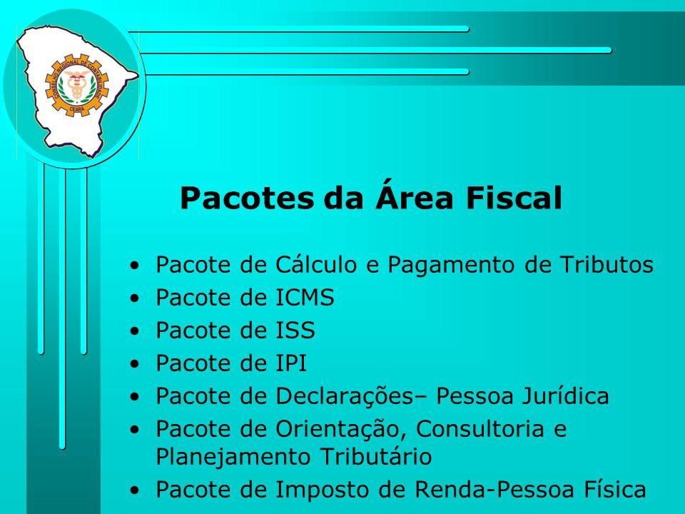 Pacotes da Área Fiscal Pacote de Cálculo e Pagamento de Tributos