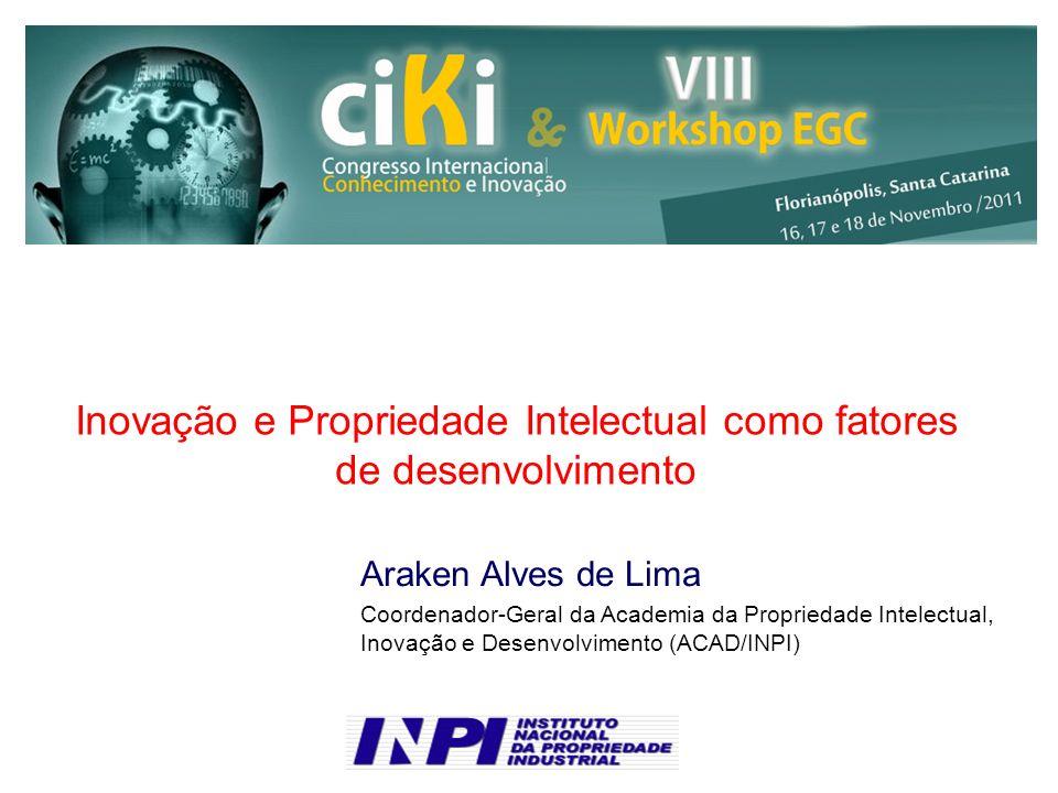 Inovação e Propriedade Intelectual como fatores de desenvolvimento
