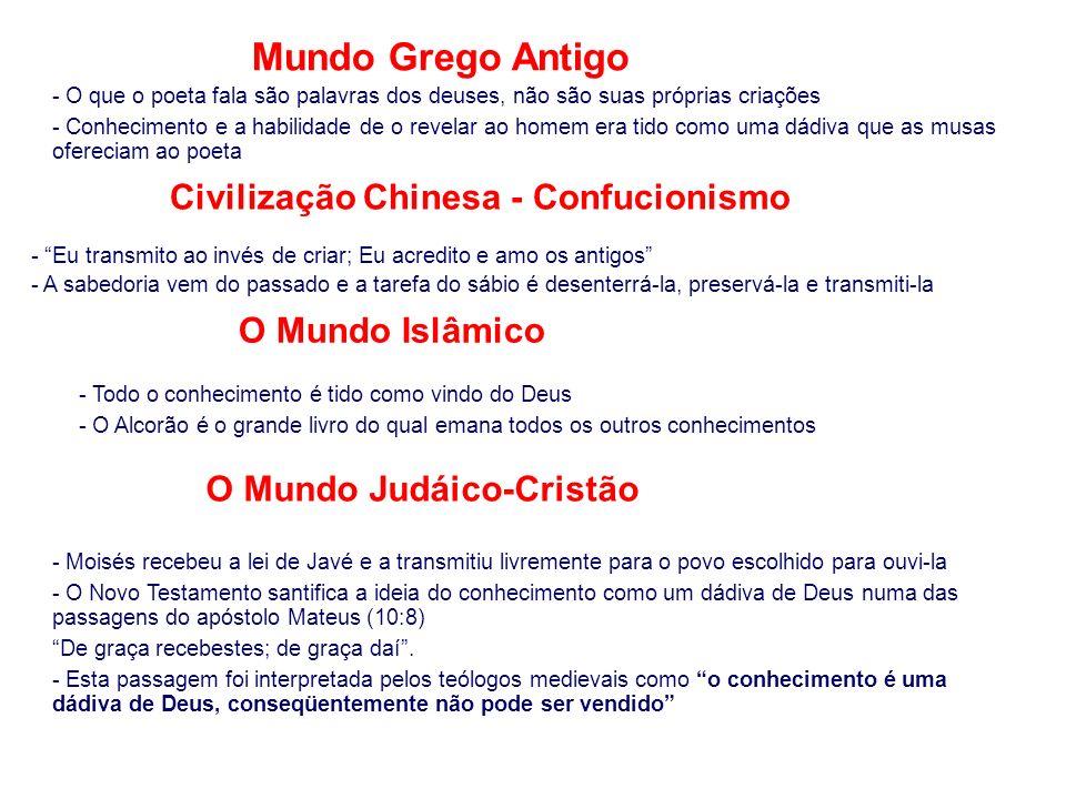 Civilização Chinesa - Confucionismo O Mundo Judáico-Cristão