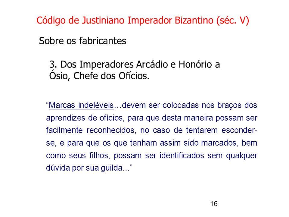 Código de Justiniano Imperador Bizantino (séc. V)