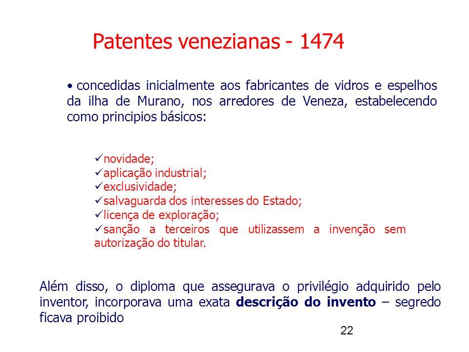 Patentes venezianas - 1474