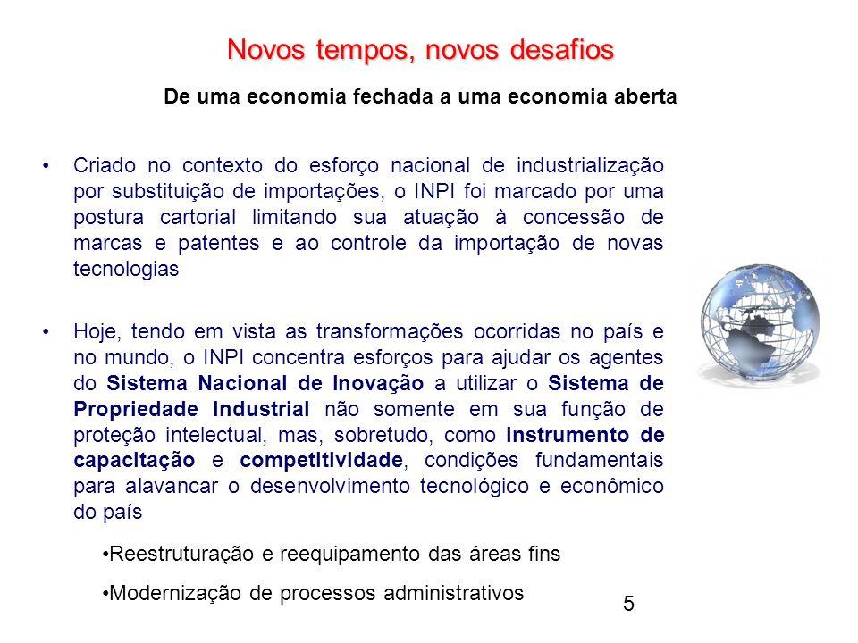 Novos tempos, novos desafios De uma economia fechada a uma economia aberta
