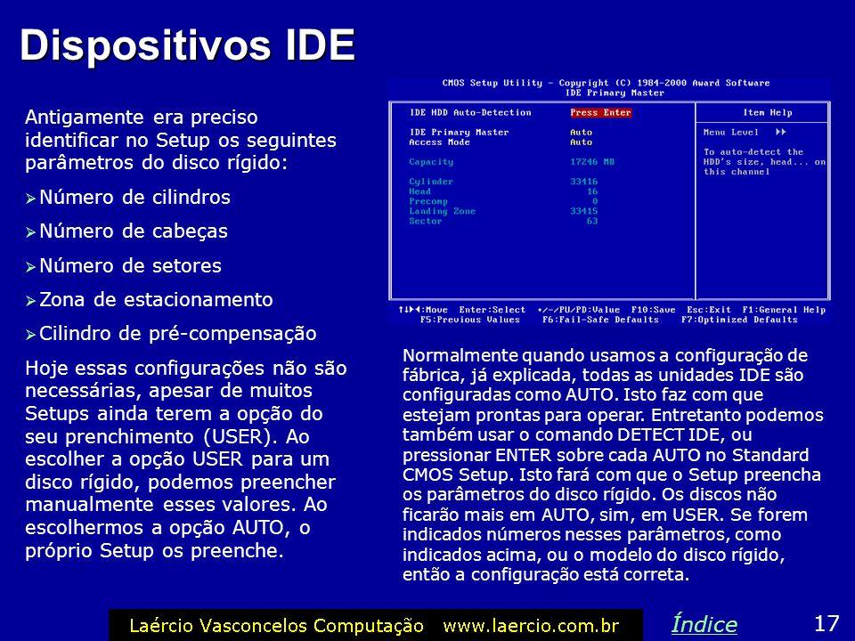 Dispositivos IDE Índice 17