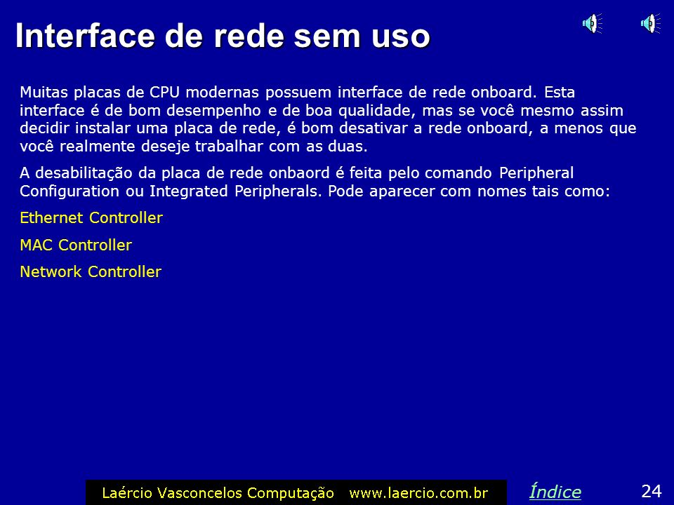 Interface de rede sem uso