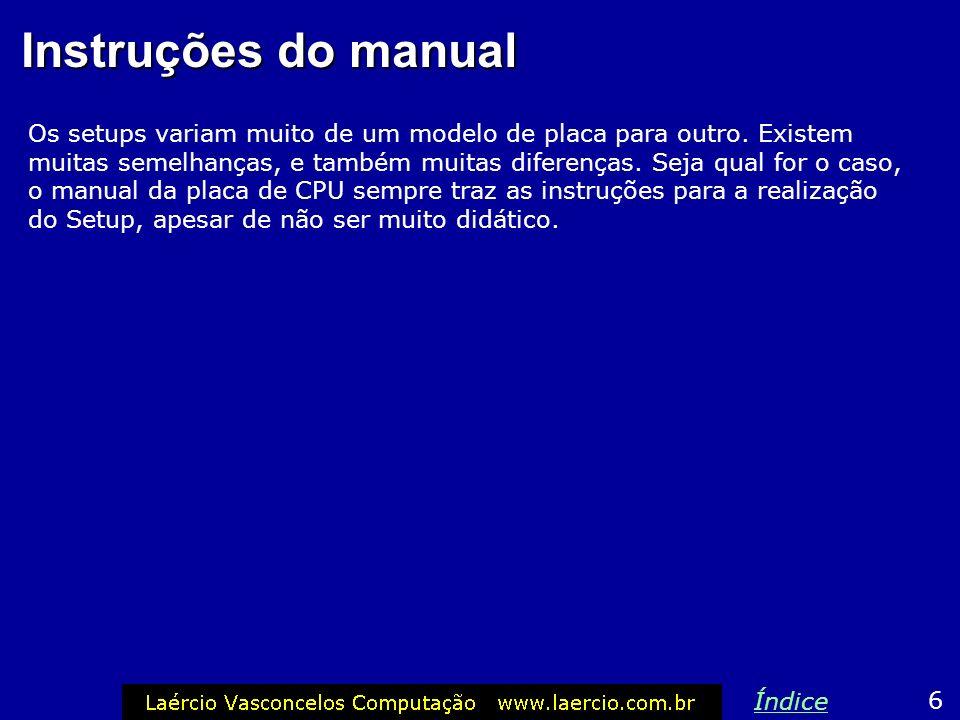 Instruções do manual