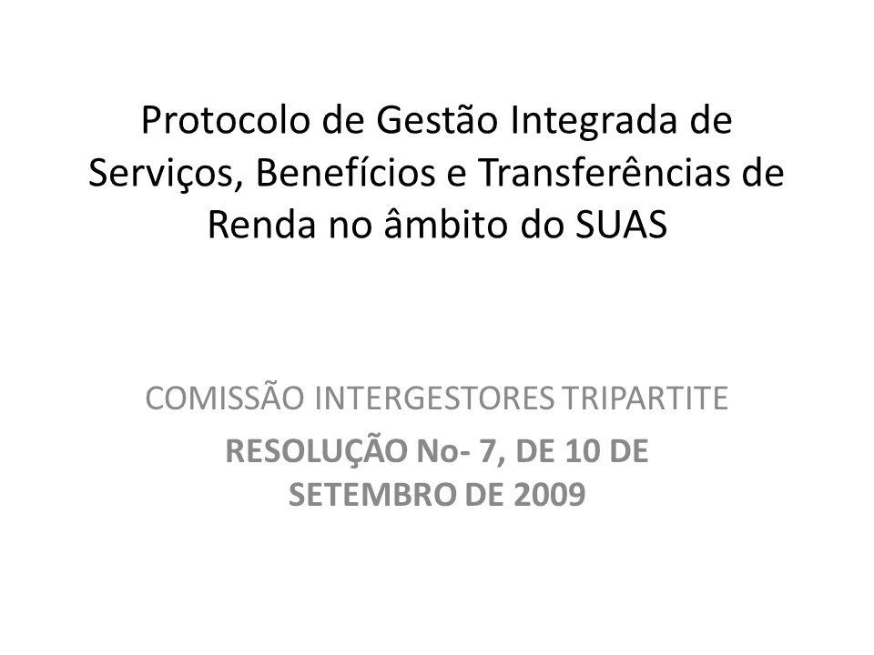 Protocolo de Gestão Integrada de Serviços, Benefícios e Transferências de Renda no âmbito do SUAS