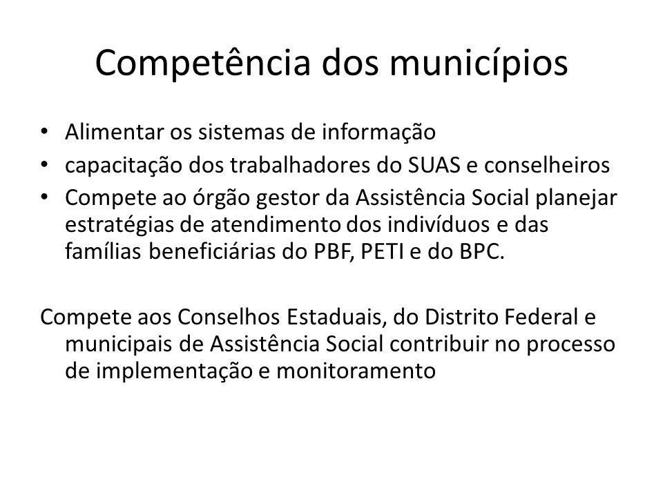Competência dos municípios