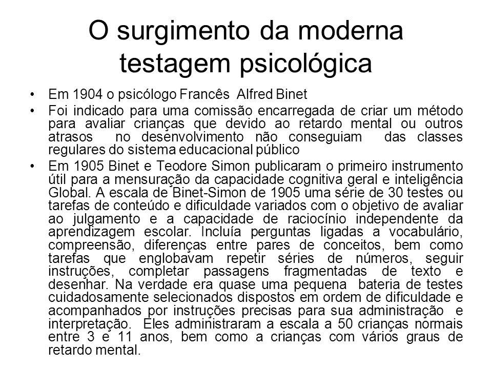 O surgimento da moderna testagem psicológica