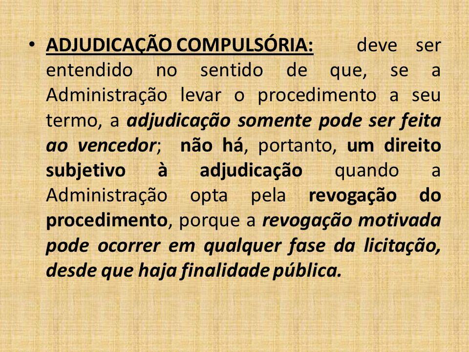 ADJUDICAÇÃO COMPULSÓRIA: