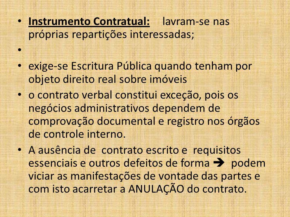 Instrumento Contratual: