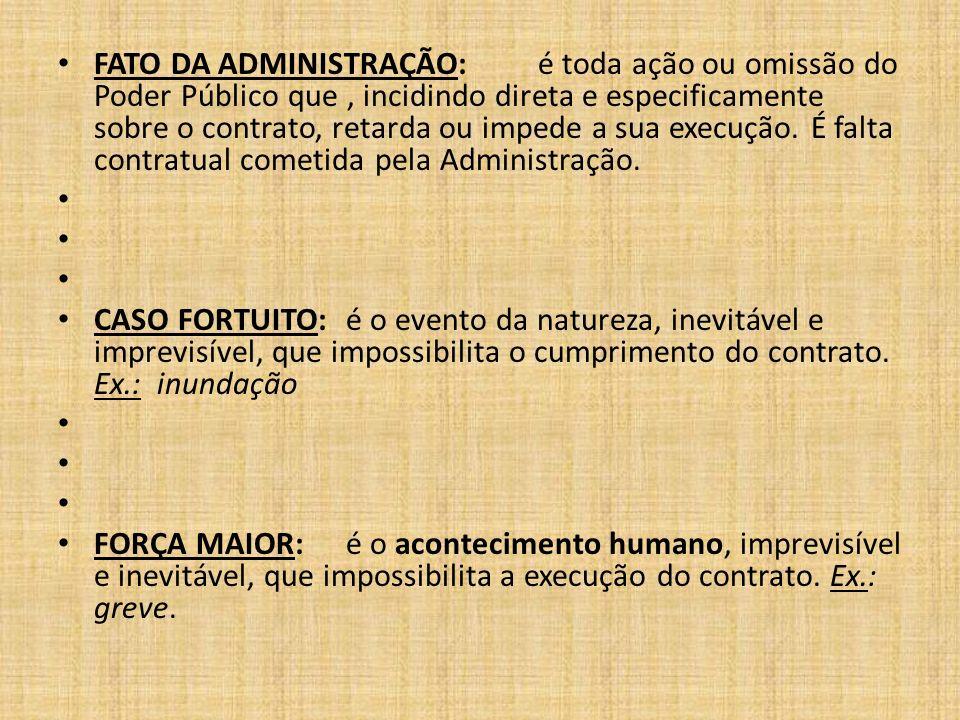 FATO DA ADMINISTRAÇÃO: