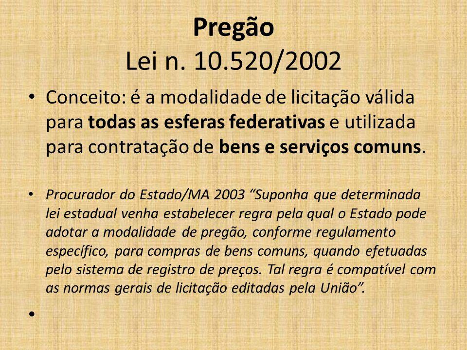 Pregão Lei n. 10.520/2002
