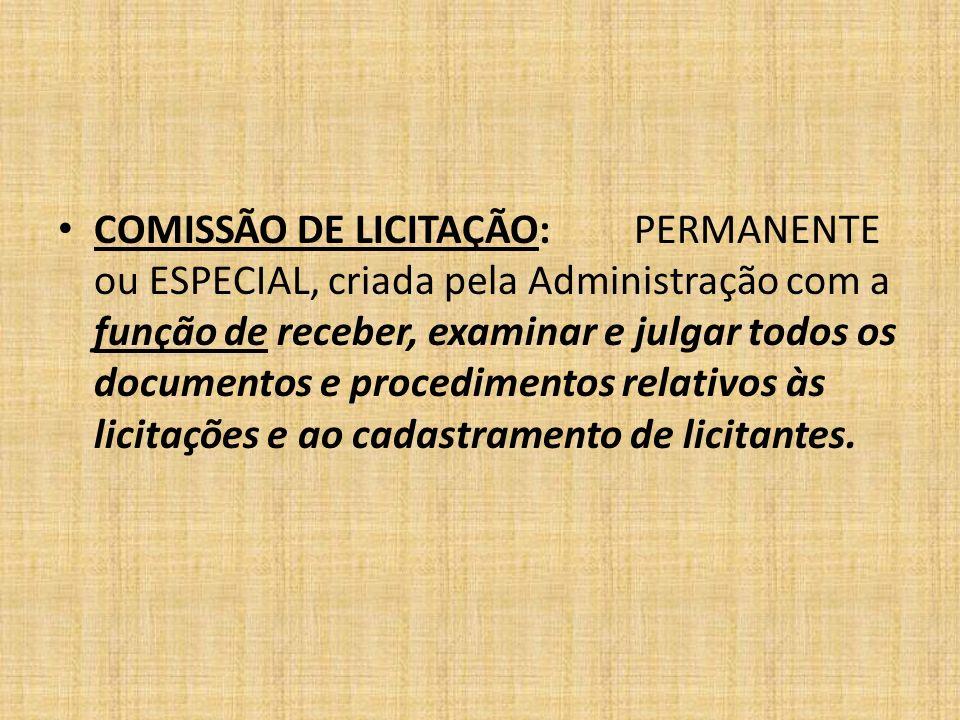 COMISSÃO DE LICITAÇÃO: