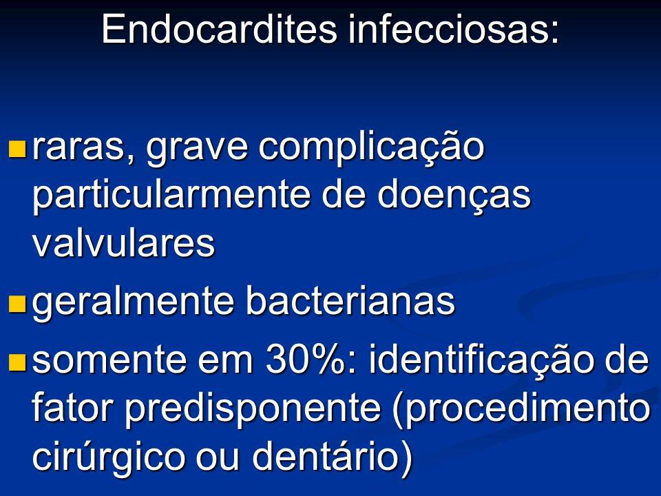 Endocardites infecciosas: