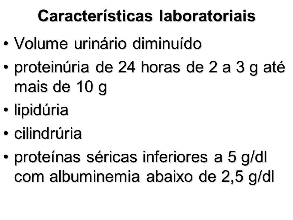 Características laboratoriais