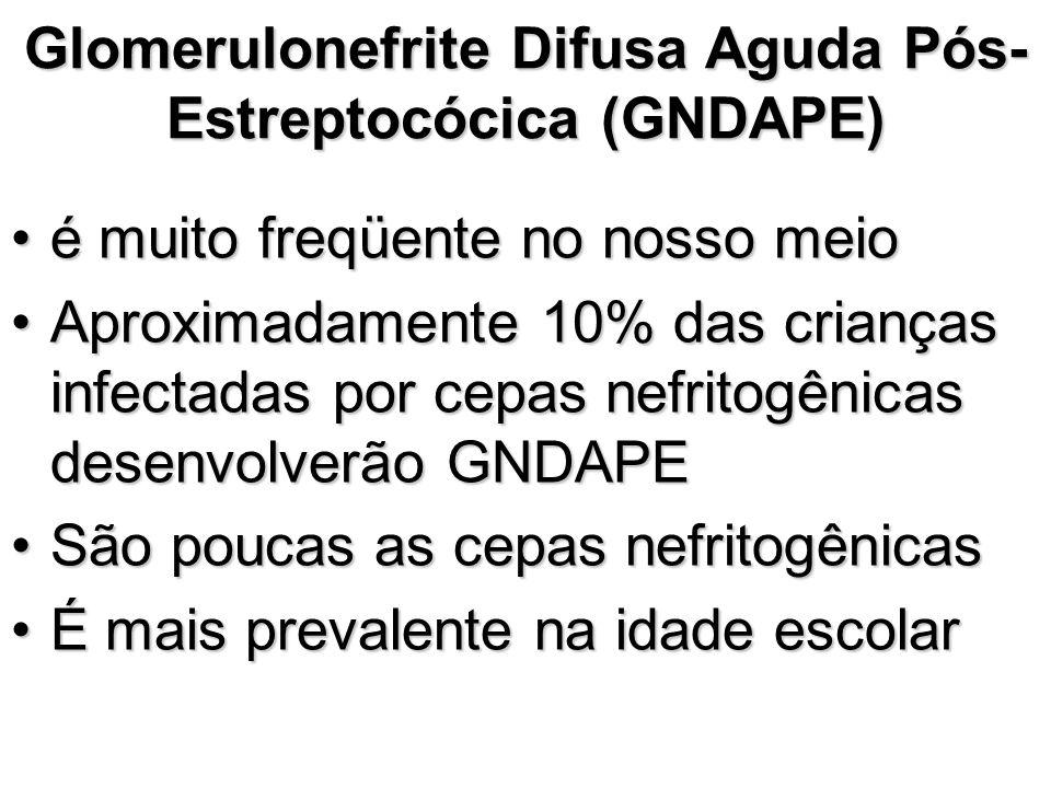 Glomerulonefrite Difusa Aguda Pós-Estreptocócica (GNDAPE)