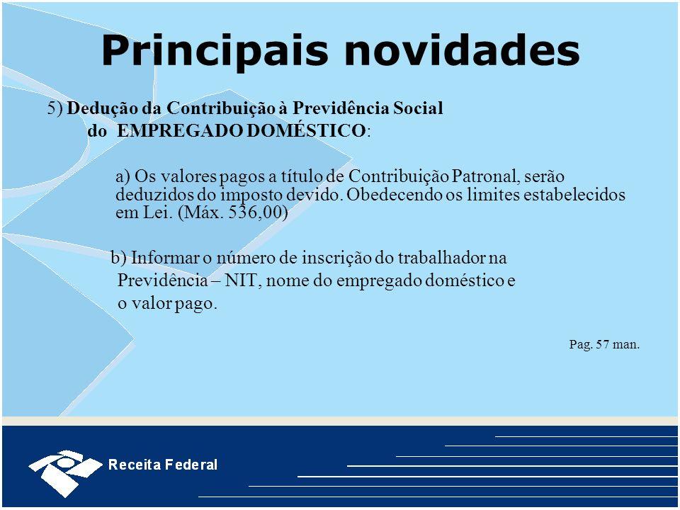 Principais novidades do EMPREGADO DOMÉSTICO: