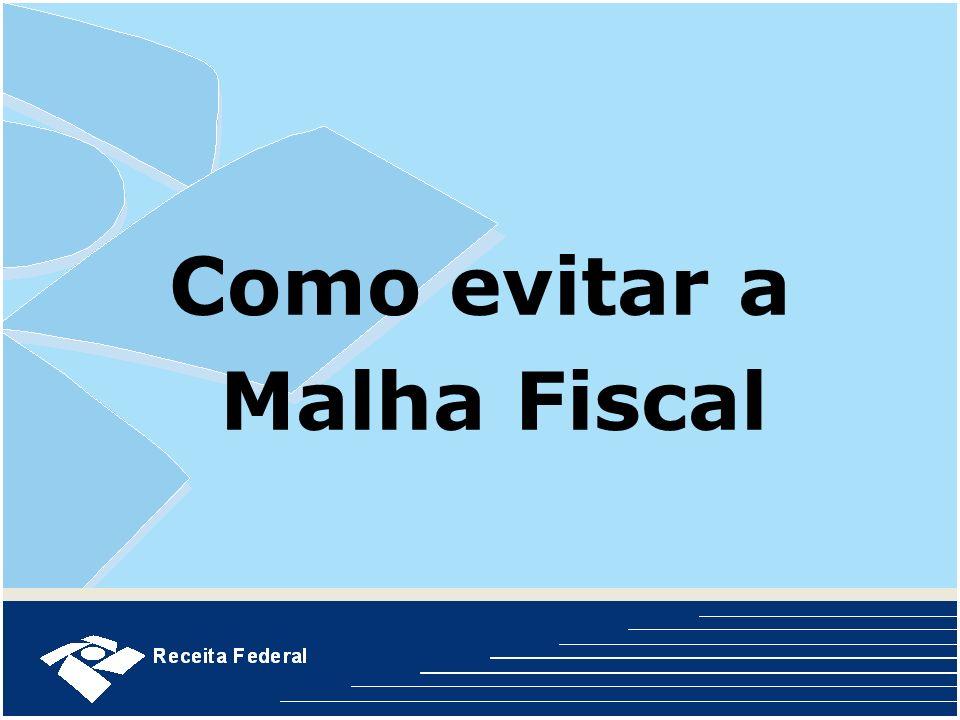 Como evitar a Malha Fiscal