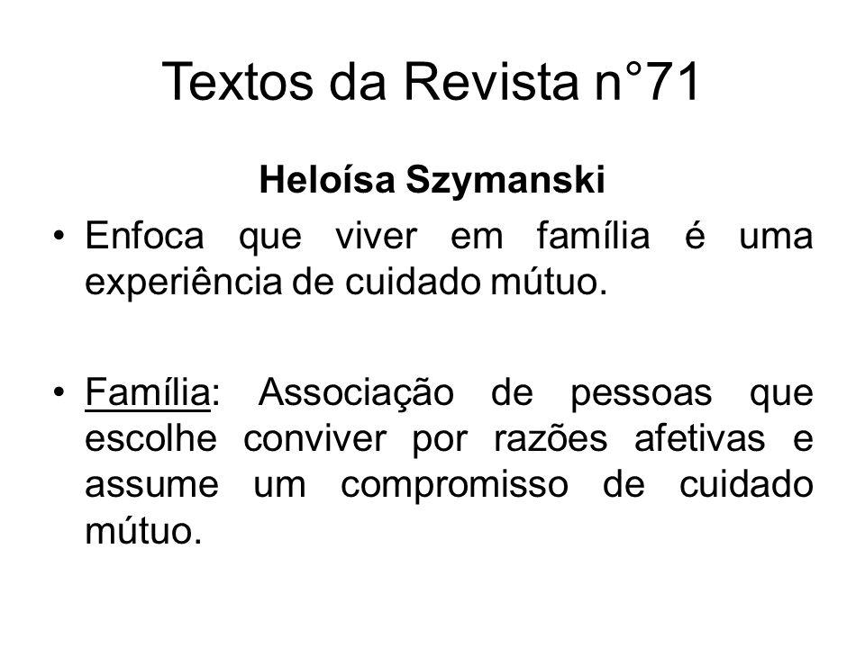 Textos da Revista n°71 Heloísa Szymanski