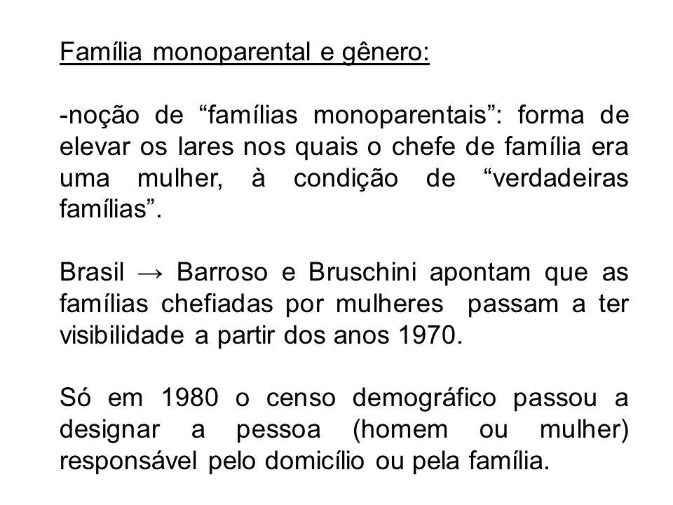 Família monoparental e gênero: