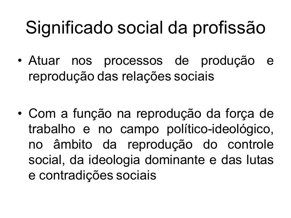 Significado social da profissão