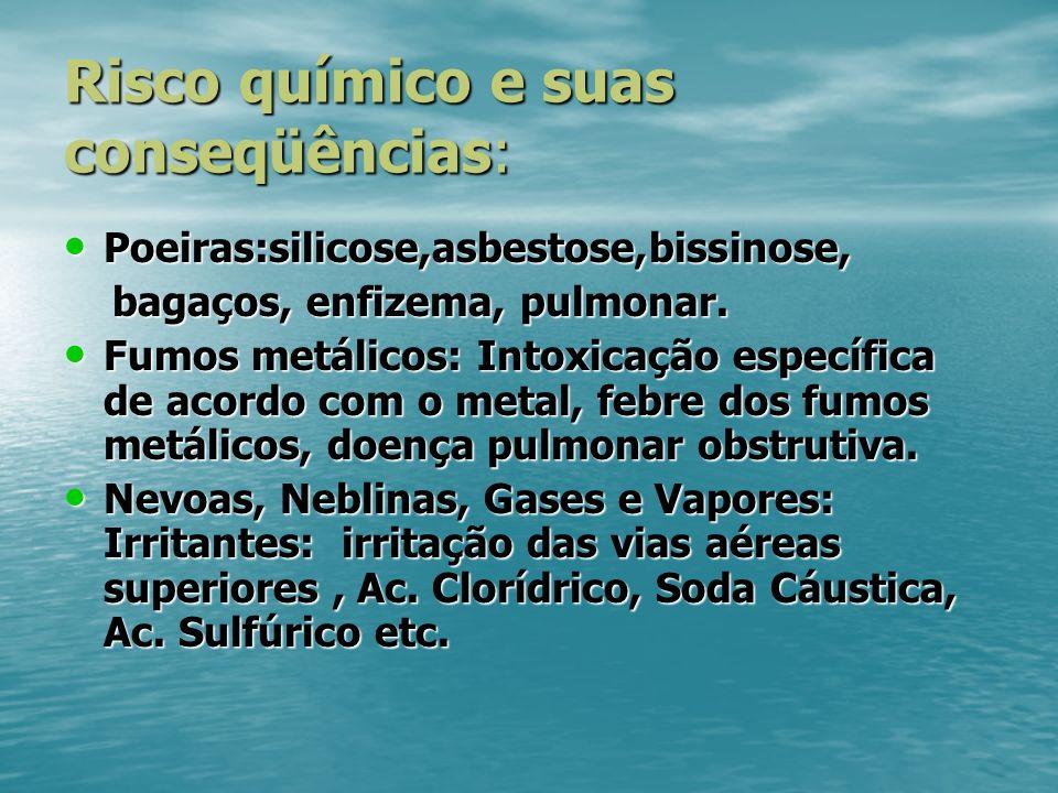 Risco químico e suas conseqüências: