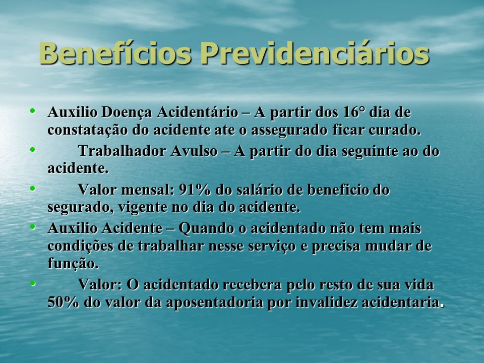 Benefícios Previdenciários