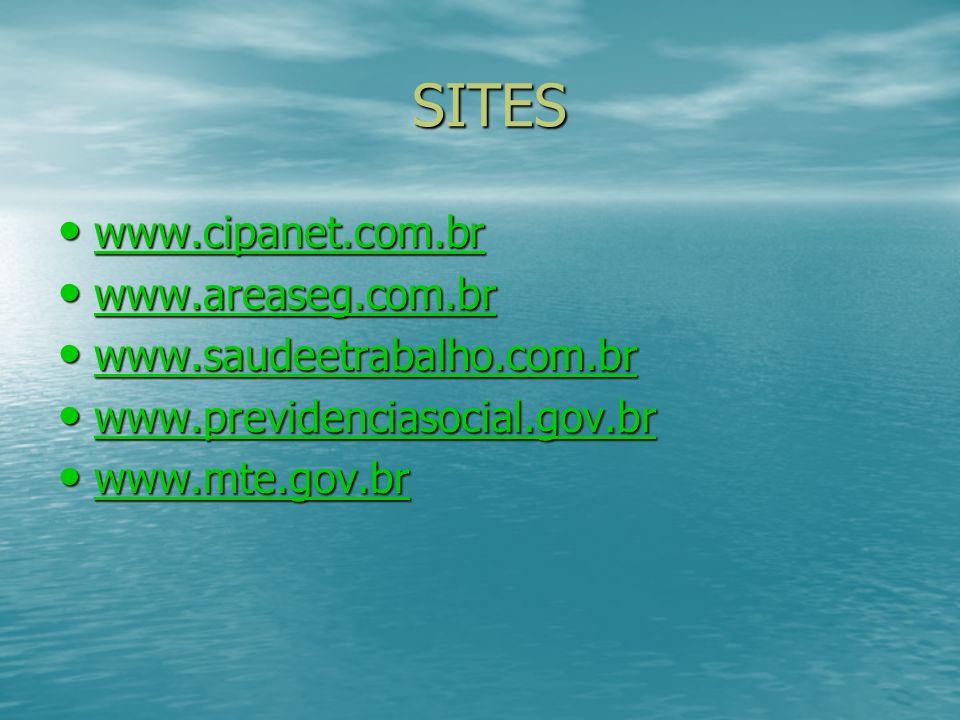 SITES www.cipanet.com.br www.areaseg.com.br www.saudeetrabalho.com.br