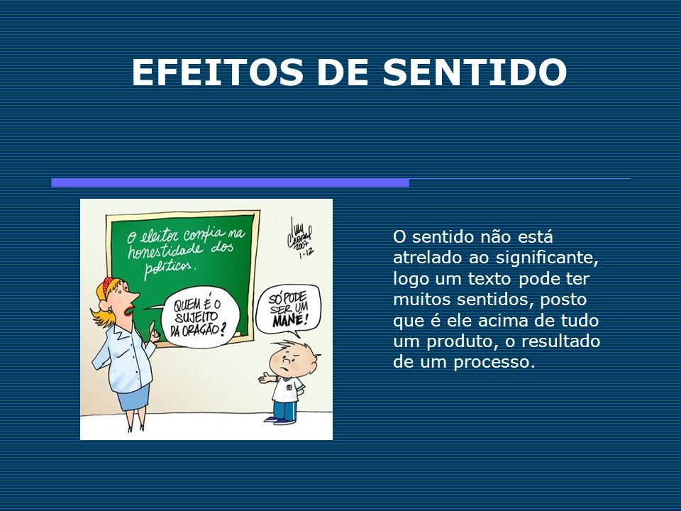 EFEITOS DE SENTIDO