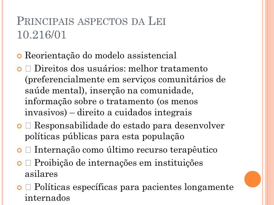 Principais aspectos da Lei 10.216/01