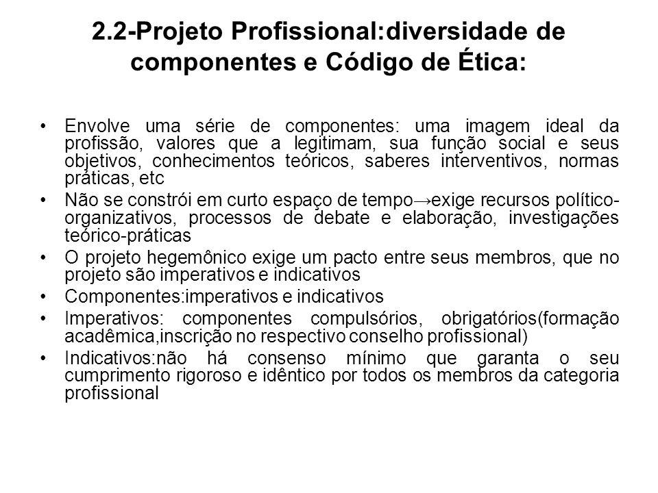 2.2-Projeto Profissional:diversidade de componentes e Código de Ética: