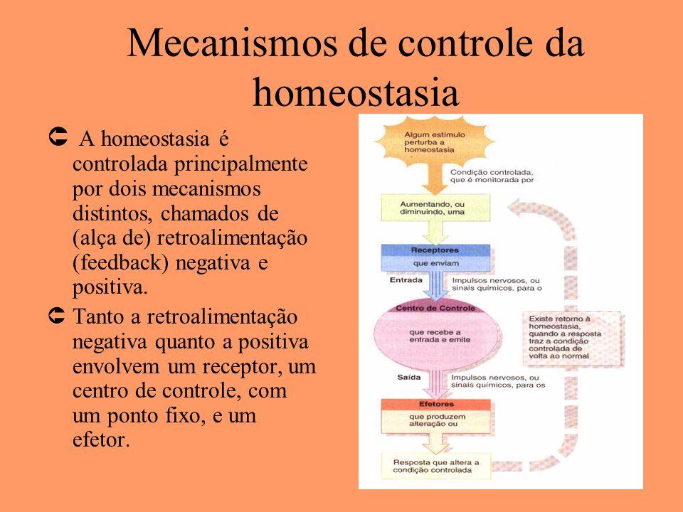 Mecanismos de controle da homeostasia