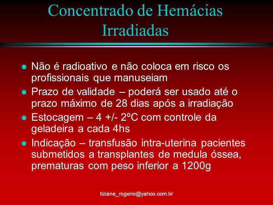 Concentrado de Hemácias Irradiadas