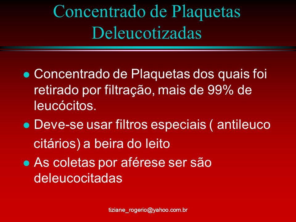 Concentrado de Plaquetas Deleucotizadas