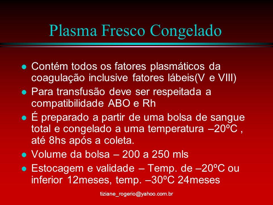 Plasma Fresco Congelado