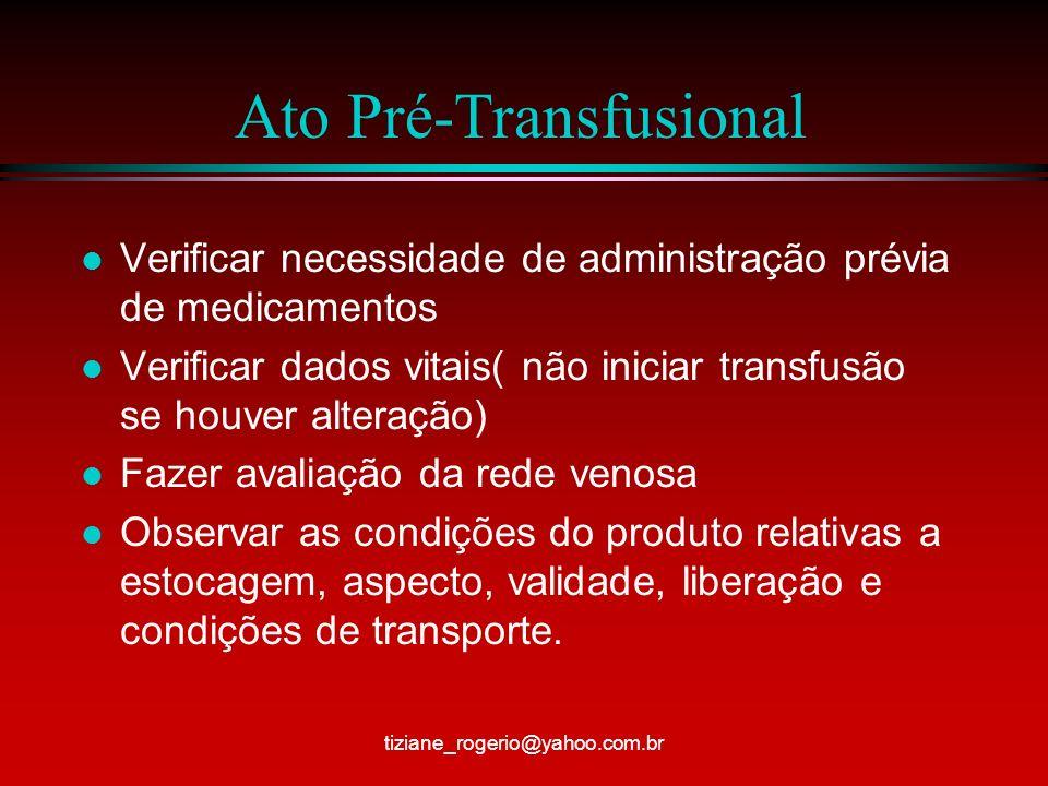 Ato Pré-Transfusional