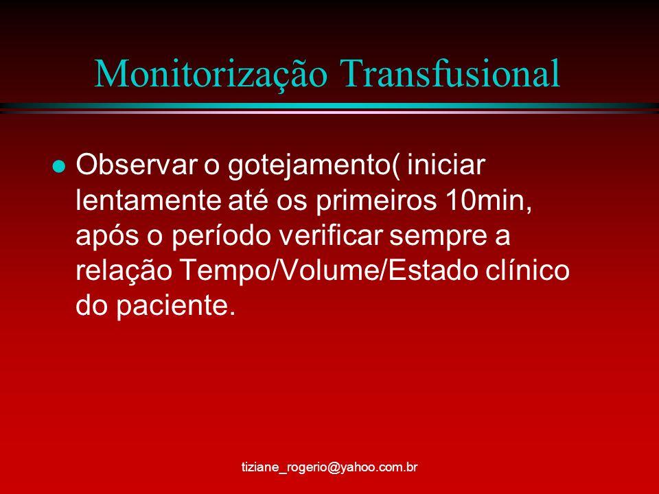 Monitorização Transfusional