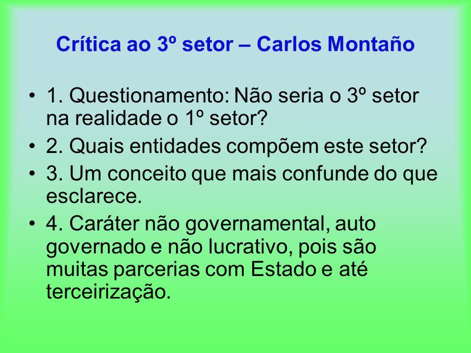 Crítica ao 3º setor – Carlos Montaño