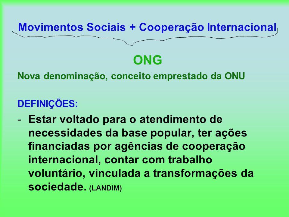 Movimentos Sociais + Cooperação Internacional