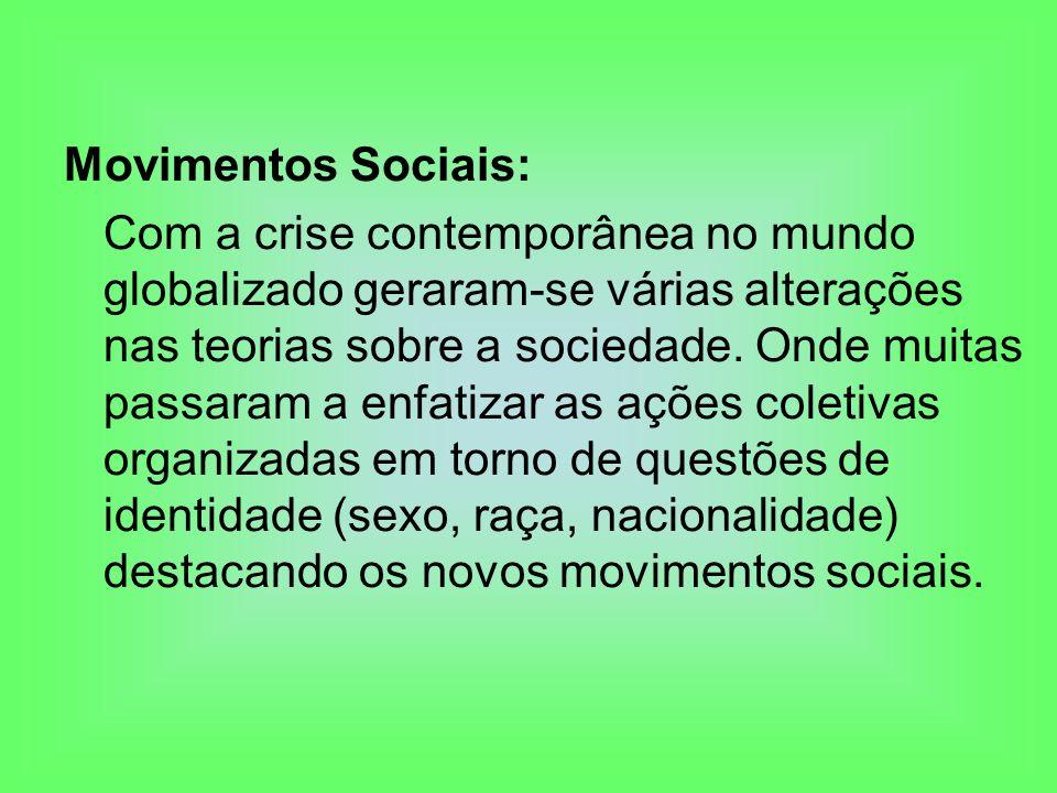 Movimentos Sociais: